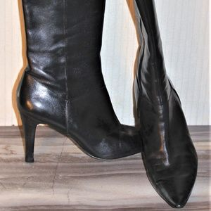 ENZO ANGIOLINI TALL BLACK BOOTS-SIZE 8 1/2